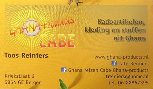 Visitekaartje Ghana Products